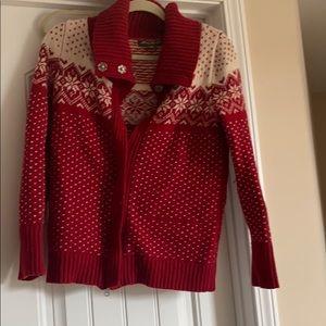 Eddie Bauer holiday zip sweater
